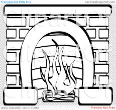fireplace clipart 42