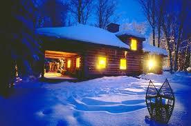 winter cabin winter team building corporate retreat algonquin log cabin