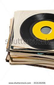 Photo Album Sleeves Used Vinyl Records Shaddow On White Stock Photo 133672007