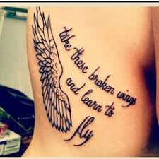 crime in it s purest form is freedom wings tattoos tatto