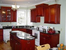 Cherry Cabinets And Rounded Oval Shaped Island Kitchen And - Pictures of kitchens with cherry cabinets
