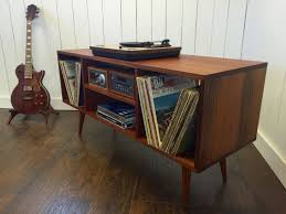 Record Player Storage New Mid Century Modern Record Player Console Turntable