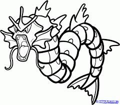 how to draw gyarados gyarados from pokemon step by step pokemon