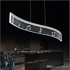 Lighting For Dining Room Discount Music Note Design Modern Led Pendant Light For Dining