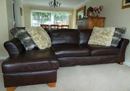 Marks And Spencer Leather Sofas Large Marks And Spencer Brown Style Leather Sofa Chaise