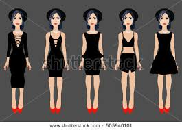 black dresses collection vector illustration different stock