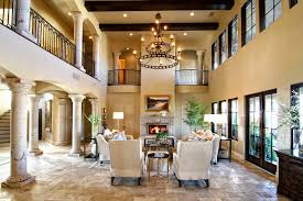 nature stone frame fireplace lighting in ceiling tuscan living