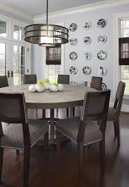detroit round dining table room contemporary with dark wood