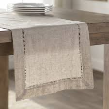 table runner laurel foundry modern farmhouse kitt hemstitched table runner