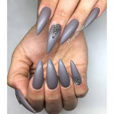 nail polish beautiful gray nail polish grey matte stiletto nails