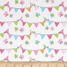 michael miller nature babies flannel pennant party pink discount