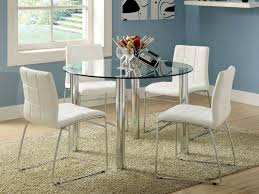 Chair White Round Dining Table And  Chairs Starrkingschool Glass - Small round kitchen table set