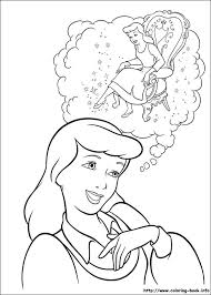 coloring pages cinderella glass slipper3 coloring pages