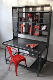 bureau style atelier meuble metier grand bureau tri postal industriel atelier loft