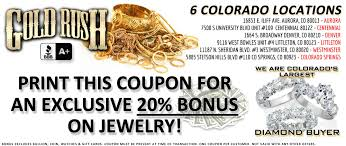 jared jewelers coupon cash for gold silver diamonds and gift cards denver gold rush denver