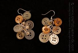 button earrings dangling antique button earrings crafts by amanda