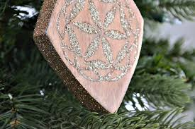 Christmas Ornament With Photo Wood Inlay Ornament With German Glass Glitter U2022 Ugly Duckling House