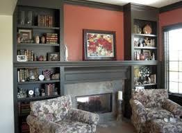 Bookshelf Around Fireplace Amazing Built In Bookshelves Around Fireplace Within Formal And