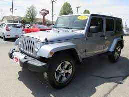 jeep billet silver metallic 2016 used jeep wrangler sahara navigation hard top automatic step
