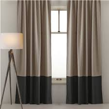 Coloured Curtains Custom Designed Curtains Two Colour Latte And Black Sorrento