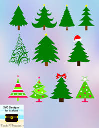 Designs For Decorating Files Christmas Tree Svg Dxf Cutting Files For Silhouette Cameo Or