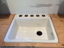 Undermount Cast Iron Kitchen Sink by Leveling An Undermount Cast Iron Sink