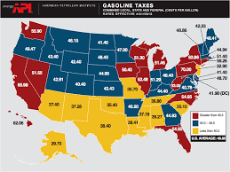 usa map usa gasoline tax map columbia gas prices