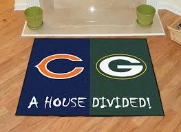 Green Bay Packers Home Decor Amazon Com Fanmats Nfl House Divided Nylon Face House Divided Rug