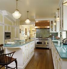 vintage modern kitchen santa barbara copper countertops cost kitchen traditional with