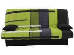 housse canapé clic clac banquette clic clac en tissu motif vert vente de banquette