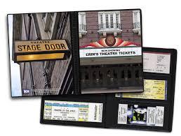 ticket stub album playbill theater ticket displays