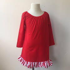 cheap wholesale ruffle clothing children girls wide red and white