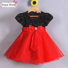 baby black white red wedding dresses 3 8y red black flower