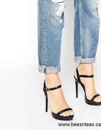 women aldo ridia black metal barely there heeled sandals black