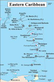 St Lucia Map Of The Eastern Caribbean