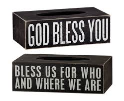 Home Decor Boxes Home Decor God Bless Youtissue Box