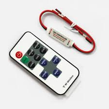 led strip lights remote dc 5v 24v 12a inline led dimmer controller w rf remote torchstar