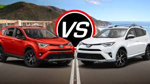 toyota rav4 engine size 2016 toyota rav4 vs rav4 hybrid spec comparison