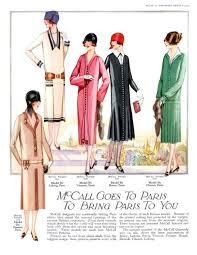 mccalls august 1925 fashion history magazine images