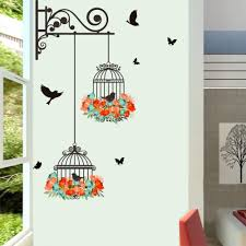aliexpress com buy birdcage wallpaper wall stickers kids rooms