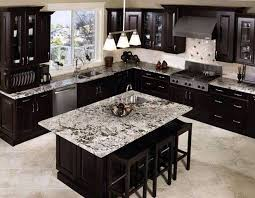 black cabinets kitchen ideas cabinets with light flooring and countertops interior
