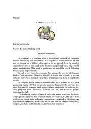 english teaching worksheets computers