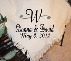 personalized wedding blankets letter monogram afghan personalized keepsake wedding afghans