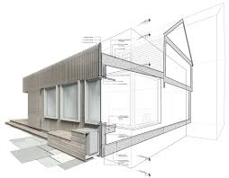 House Architecture Drawing Highberg House Cut Away Rendering Vray 3d Max Illustrator