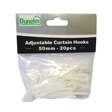 Curtain Pole Dunelm Pack Of 20 Adjustable Curtain Hooks Dunelm