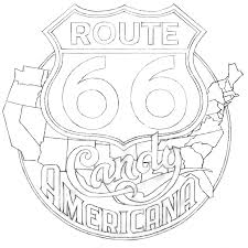 Map Of Route 66 Sweet U201d A Logo Project U2013part 3 Of 5 Route 66 Candy Americana