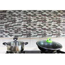 credence adhesive cuisine kitchen backsplash peel and stick tiles fau subway glossy wall