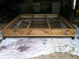 Diy King Platform Bed Frame by Ana White King Size Platform Bed Diy Projects
