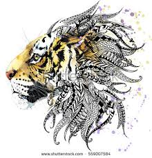 tiger animal print anti stress stock illustration 559007584