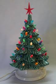 ceramic christmas tree lighted electric tabletop tree lamp w